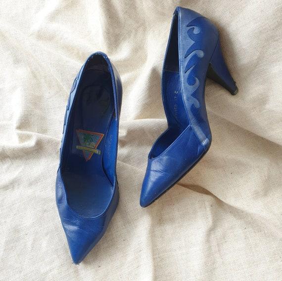 Vintage 80s flame stiletto heels