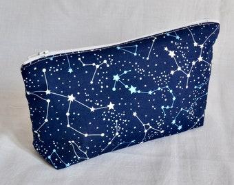 Galaxy Makeup Bag/ Eco Cosmetics Bag/ Pencil Case/ Wash Bag/ Toiletries Bag/ Reusable Pad Bag/ Stocking Filler/Accessory Bag/ Christmas Gift