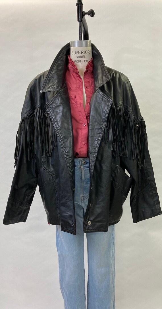 1980's Fringe Leather Jacket