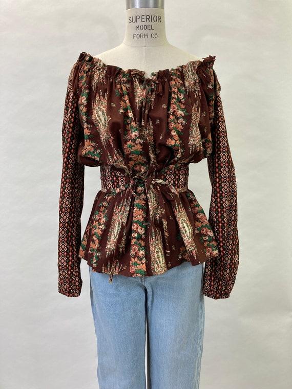1970's Bohemian Peasant Blouse