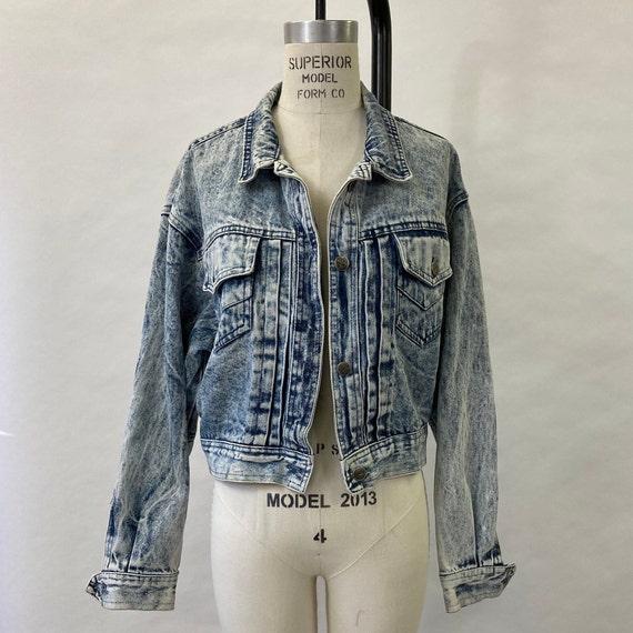 1980's Acid Wash Denim Jacket