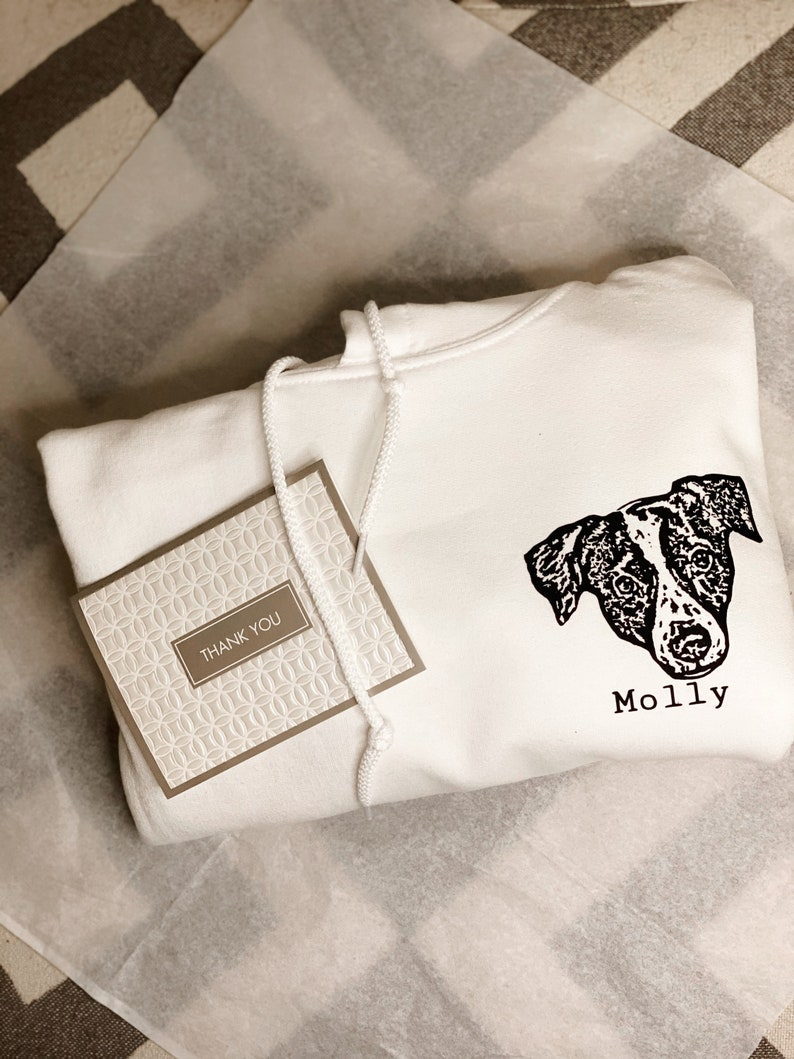 Sentimental Personalized gift White Customized Pet sweater Personalized Sweatshirt Custom Unisex Sweatshirt Petlover design