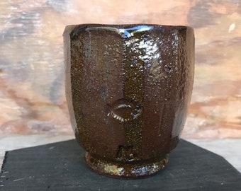 Vintage Colin Pearson Studio Pottery tenmoku stoneware vase