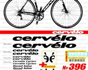 2 CERVELO Cycling Stickers Printed Frame Forks Wheel Phone Helmet Decals bike