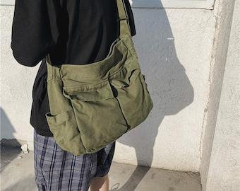 large capacity travel canvas shoulder bag,Multiple pockets   shoulder bag,travel bag,canvas bag,everyday bag