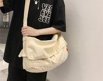 Fashion Canvas Women Crossbody Bag,Everyday Shopping Canvas Bag,Large   Capacity Shoulder Bag,