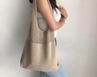 Wool knitted shoulder bag  ,Japanese   simple shoulder bag,japanese schoolbag