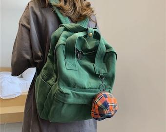 Vintage Canvas backpack,School bag,Everyday backpack,Large capacity backpack