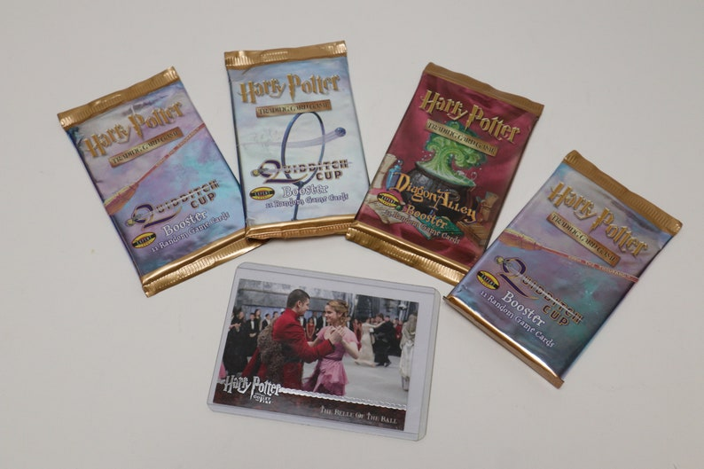 ; Diagon Alley Vintage 2001 NIP Harry Potter Trading Card sets 1 ; The Belle of the Ball Movie Cell Card 3 Quidditch Cup Booster 1