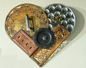Upcycled Metal Heart Wall Hanging