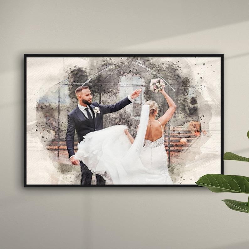 Euer Hochzeitsfoto als Gemälde
