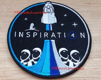 NASA SpaceX Inspiration 4 Logo Patch Kennedy Space Centers Apollo and Space Shuttle Missions Jersey Emblem sew on embroidery patches