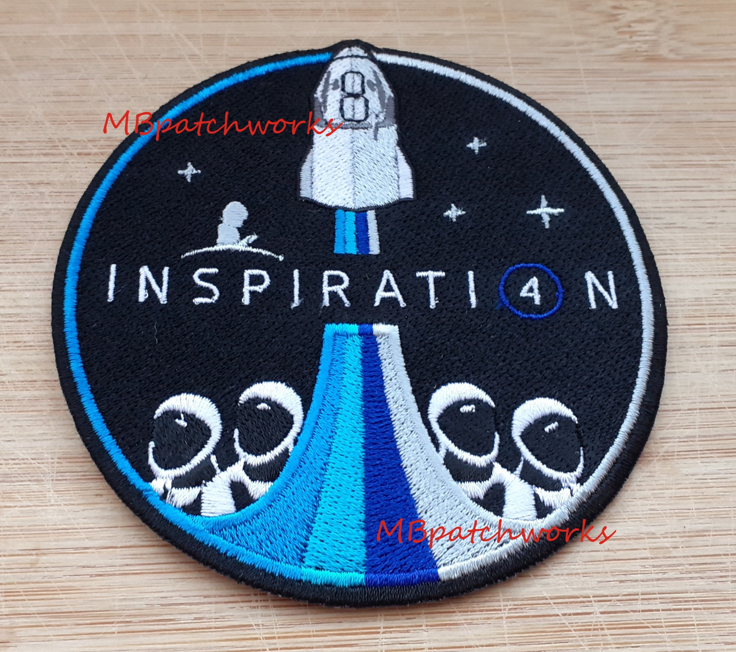 NASA SpaceX Inspiration 20 Logo Patch Kennedy Space Centers Apollo and Space  Shuttle Missions Jersey Emblem sew on embroidery patches