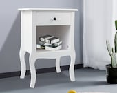 Bedside Cabinet 1 Drawer Chest Side Table Drawers Shabby Chic European Style