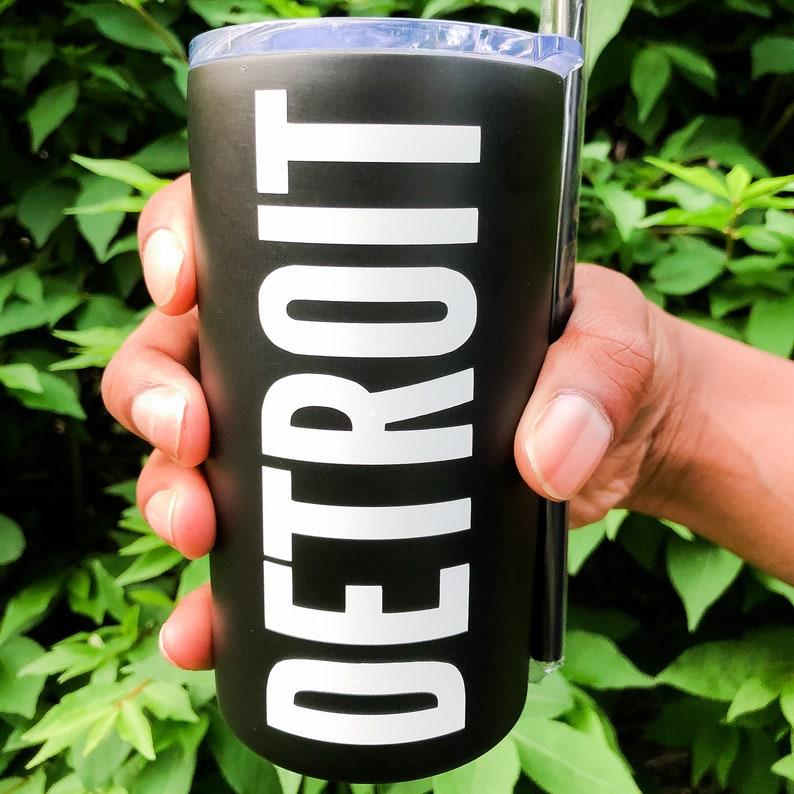 Detroit Black Tumbler image 0