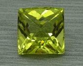 Loose natural 10.20ct lemon citrine fancy square cut gemstone,11.95mm x 10.11mm