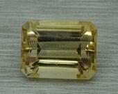 Loose natural 15.40ct citrine emerald cut gemstone,16.34mm x 12.55mm x 10.42mm