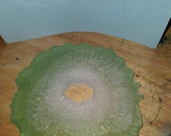 Light green geode