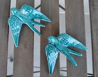 Ceramic Swallow | hanging swallow | wall decor | wedding decoration | wedding favor | wedding gift