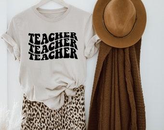 Teacher Retro Shirt Customizable   Mrs Miss Shirt