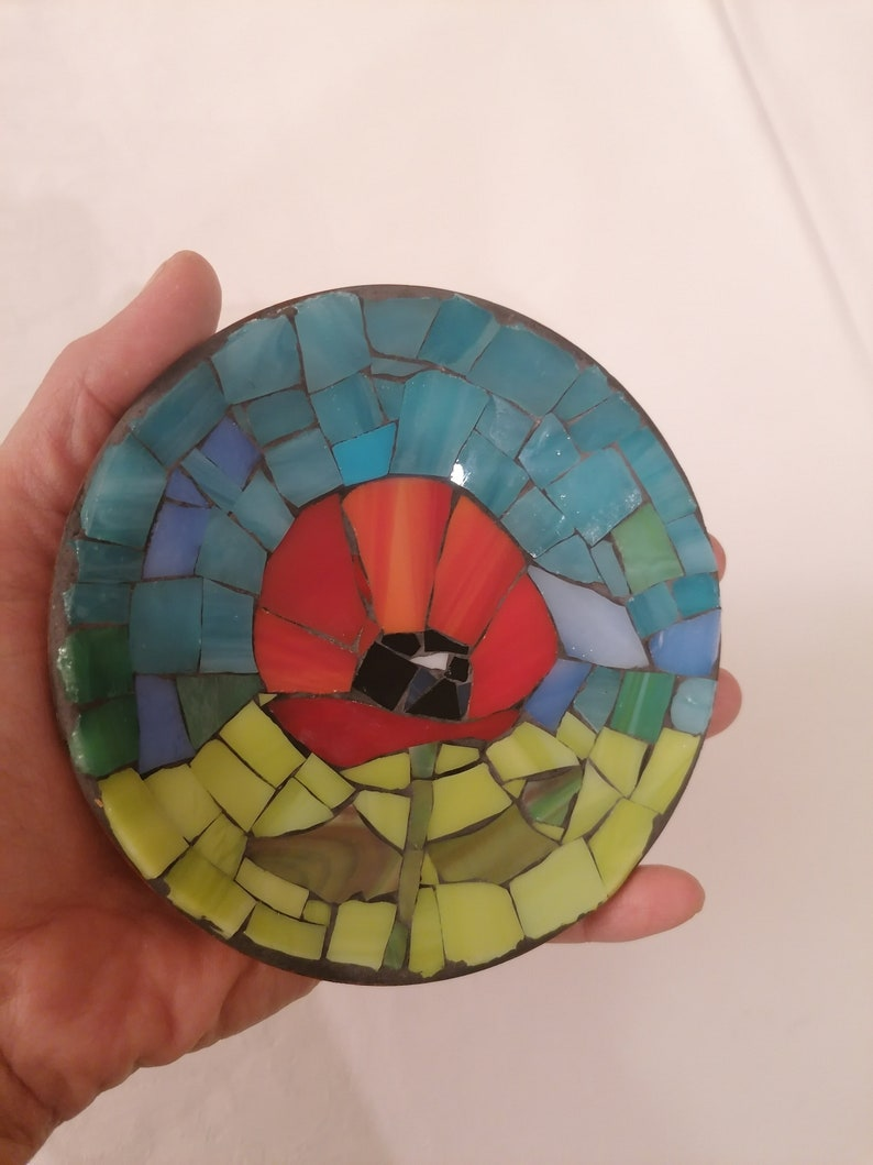 Mosaic saucer