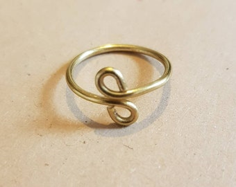 Midi ring / Above knuckle ring / Brass / Handmade in UK