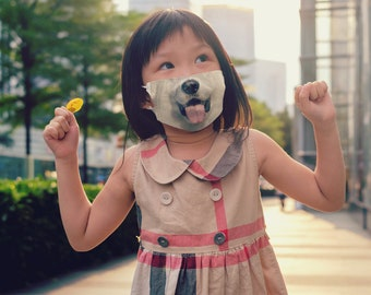 Reusable Face Mask with Filter, Dog Face Mask, Kid Mask, Man Face Mask, Woman Face Mask, Adjustable, Cotton, 1 Filter included FREE