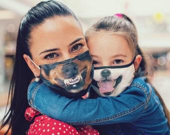 2 x MASK BUNDLE, Face Mask with Filter Pocket, Kids Mask, Adult Face Mask, Face Mask on Sale, Fabric Face Mask, 1 Filter included FREE