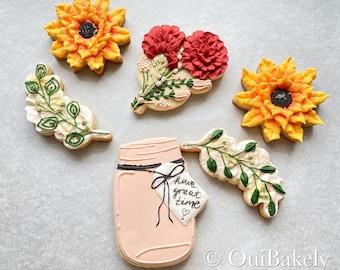 3D Flower Sugar Cookie Set, Teacher Appreciation, Mother's Day, Birthday, Bachelorette