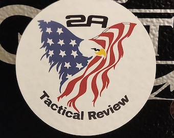 """2.75"""" Tactical Review Channel Logo Paper Sticker"""