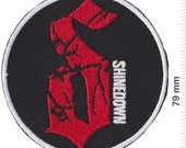 Shinedown Rockband Red Black Patch Badge Embroidered Iron on Applique Souvenir Accessory
