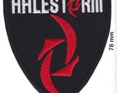 Halestorm Coat Of Arm Us Rockband Patch Badge Embroidered Iron on Applique Souvenir Accessory