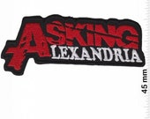 Asking Alexandria Red Silver Patch Badge Embroidered Iron on Applique Souvenir Accessory