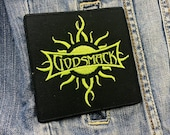 Godsmack Square Green Patch Badge Embroidered Iron on Applique Souvenir Accessory
