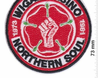 YORKSHIRE NORTHERN SOUL Embroidered Iron Sew On Patch Badge