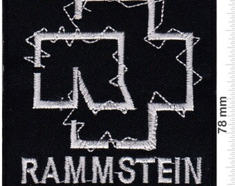 Rammstein Large Patch Badge Embroidered Iron on Applique Souvenir Accessory
