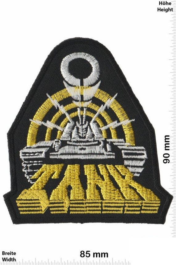 Metal Band Silver Patch Badge Embroidered Iron on Applique Souvenir Accessory
