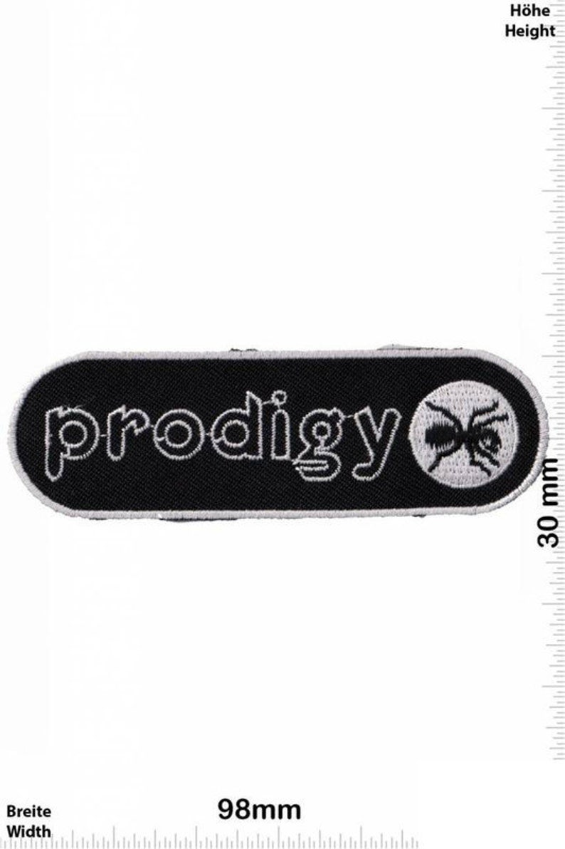 Prodigy Patch Badge Embroidered Iron on Applique Souvenir Accessory
