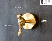 Solid Brass Hook,Hook,Brass Coat Hook,Clothes Hook,Clothes pegs Cloakroom hook Key hook,Bird hook Punch-free