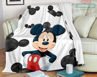 Fleece Blanket  Printing In USA New Details about  /Mickey Blanket