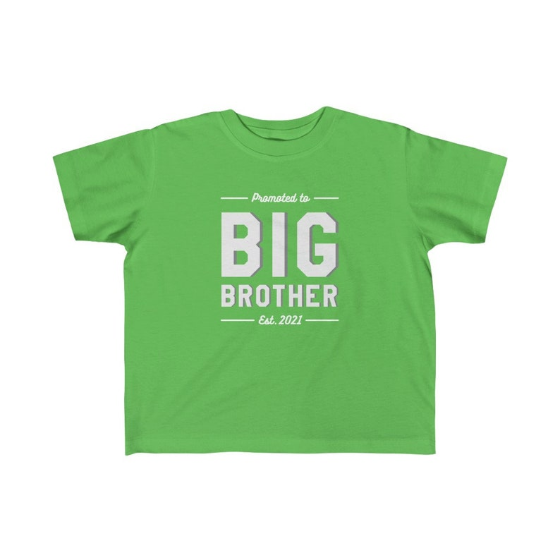 Promoted to Big Brother Kid/'s Fine Jersey Tee