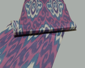 Ikat Fabric By The Yard National Cloth Cotton Fabric,Hand Woven Fabric,XB 708. Ikat Upholstery Fabric,Ikat Pink Cotton Ikat Fabric