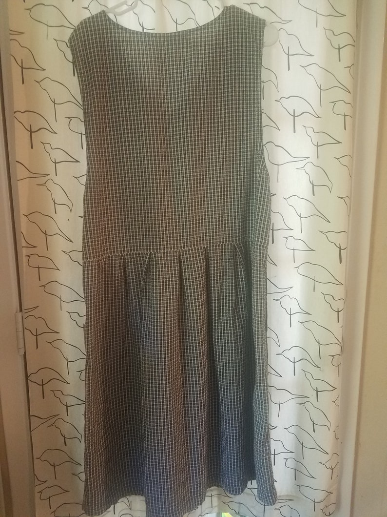 90s Womens Checked Jumper with Button Sides