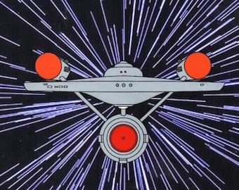 Filmation Star Trek Enterprise Hand Painted Animation Cel Art Reproduction