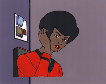 Filmation Star Trek Uhura Hand Painted Animation Cel Art Reproduction
