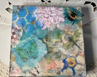 1. Mixed Media découpage box; Shabby Chic Collection