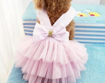 Dog/Cat Pink Tutu Bow Dress