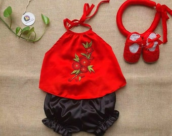Yem dao baby and toddler- Vietnamese traditional summer clothing for kid