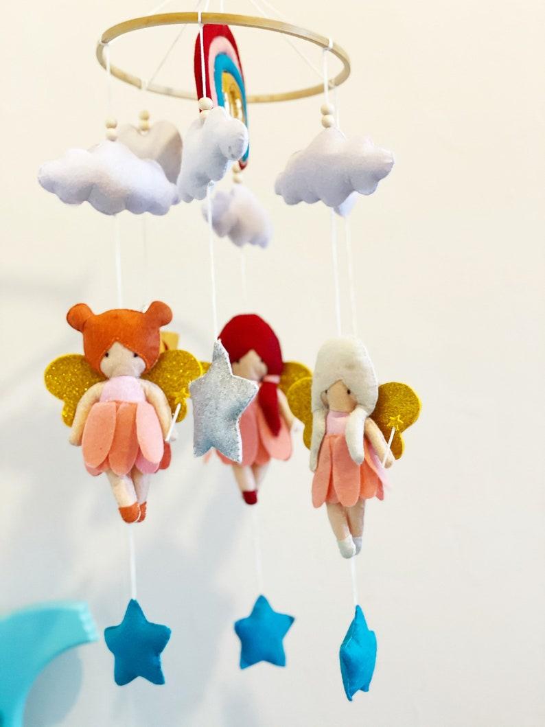 Handmade Fairy cot mobile Nursery Decor