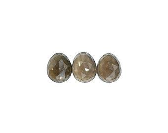 Smoky Quartz Cabochons Rose Cut - 10 to 11 mm - Choose a single cabochon or a set of 3